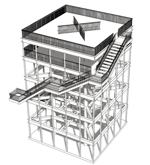 避難タワーパース